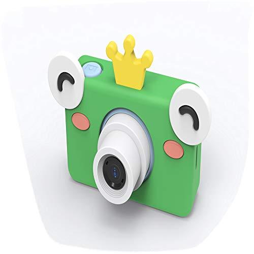 LJJY Kinder-Digitalkamera, Cartoon-SLR-Sportfotografie-Tool 800W Pixel HD intelligente Kamera-Timing-Selbstauslöser,Frog