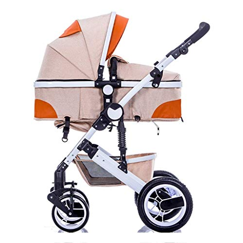 For Sale! High Landscape Strollers Baby Carriage Convertible Bassinet Stroller Foldable Can Sit and ...