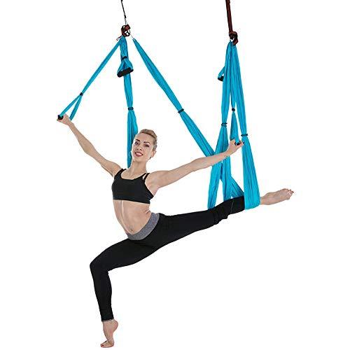Boenxuan Dekompression Hängematte Yoga Körper Formen Anti Schwerkraft Inversion Übungen,Yoga Fliegende Schaukel Innen Sport,Grün