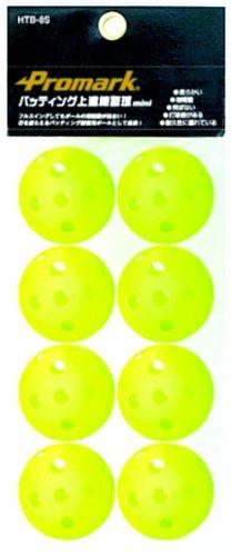 サクライ貿易(SAKURAI) Promark(プロマーク) 野球 トレーニング バッティング 穴空き ボール ミニ 上達練習球 8球入 HTB-8S