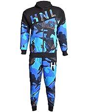 A2Z 4 Kids® Kinderen Jongens Trainingspak HNL Afdrukken Camouflage Capuchon & Bottom Jogging Kostuum Joggers Leeftijd 5 6 7 8 9 10 11 12 13 Jaren