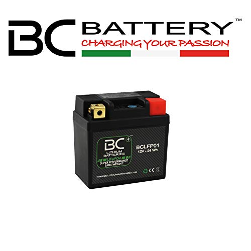 BC Lithium Batteries BCLFP01 Batería Litio para Moto LiFePO4 LFP01