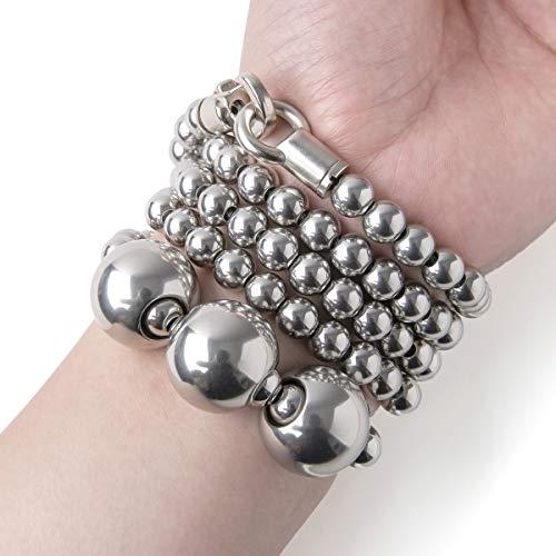 penixon Acala Voller Edelstahl Selbstverteidigung Buddha Armband (Länge C (für Handgelenkumfang> 17cm))