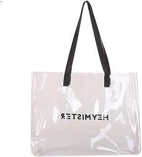 Ulisty Damen Transparent Schultertasche Grosse Kapazität Sommer Strand Tasche Mode Handtasche Tote transparent