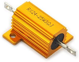 Electronics-Salon 2PCS 3 OHM 25W Wirewound Aluminum Housed Resistor.