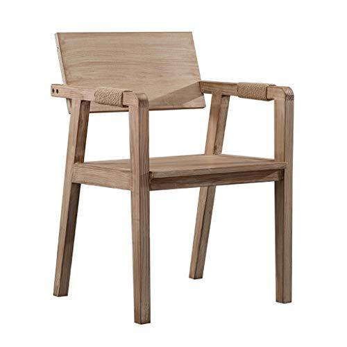 ZHNA-Chaise Chaise en Bois Massif Chaise de Salle à Manger avec accoudoirs Bureau Maison Ordinateur Chaise Dossier élévation Chaise Longue