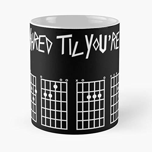 Ded Till Screamo Guitar Shredder Until Music Shredding Eat Food Bite John Best 11 Ounce Ceramic Coffee Mug