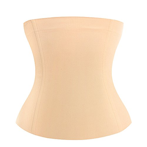 KSKshape Waist Trainer Shapewear for Weight Loss Tummy Control Body Shaper Breathable Waist Cincher Beige
