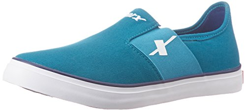 Sparx Men's Sea Green and Royal Blue Sneakers