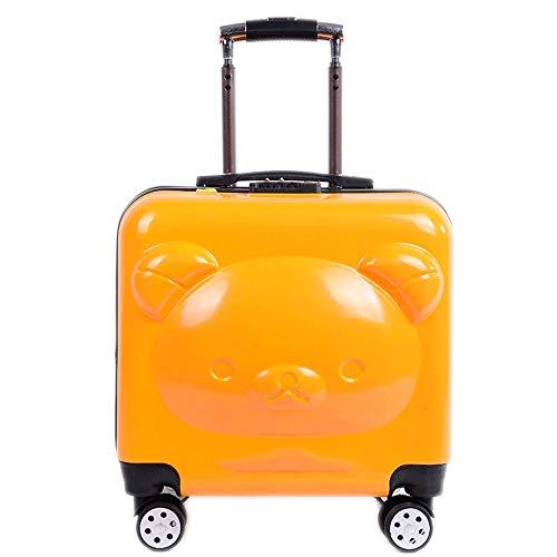 Ys-s Personalización de la tienda Caja de la carretilla de la rueda universal masculino y femenino de 20 pulgadas maleta del equipaje de embarque contraseña linda del pequeño oso niños, impermeable Fa