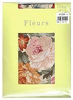 (フルール) fleurs 50Dロココ調フィオーレ花柄タイツ(パンストタイプ)ベージュベース