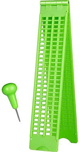 Fayeille Braille Escritura Pizarra 4 Líneas 28 Células Práctico Tabla Portátil Escuela Accesorios con Puntero Ligero Práctica Visión Cuidado Aprendiendo Herramienta