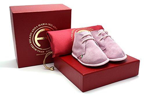 ANNA MARIA MILANO ANNA MARIA MILANO - Nuvoletta Rosa - scarpine neonato - taglia 18 - colore rosa