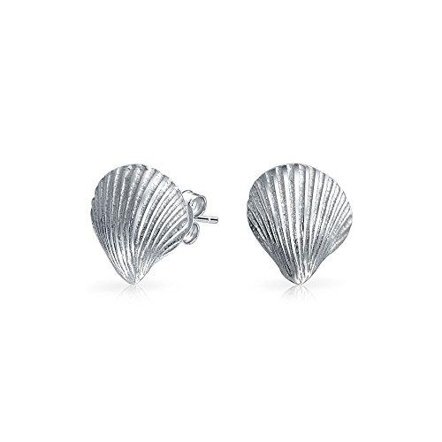 Nautisch Tropischen Strand Cockle Muschel Ohrstecker Für Damen Leben Meer 925 Sterling Silber