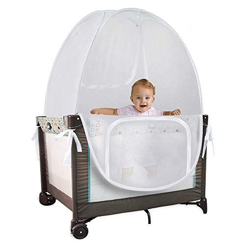 Baby Pack 'N' Play Pop Up Tent Safety Net, Protects from Insects, Mosquitoes and from Baby Climbing Out, Top Quality See Through Mesh Net (Pack 'N' Play Not Included)