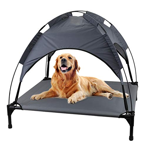 Gr8 Home Large Raised Dog Bed Puppy Pet Cot Elevated Tent Roof Canopy Sun Shade Water Resistant Cover