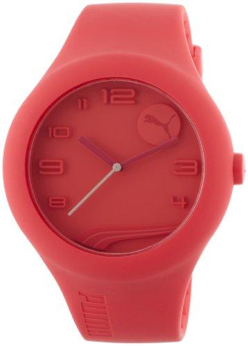 PUMA PU103211003 - Reloj analógico de Cuarzo Unisex con Correa de plástico, Color Naranja