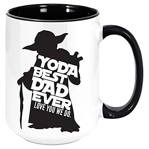 DKISEE Yoda Best Dad Ever Love You We Do Star Wars Yoda Café Té Taza Regalo para el Día del Padre Divertido