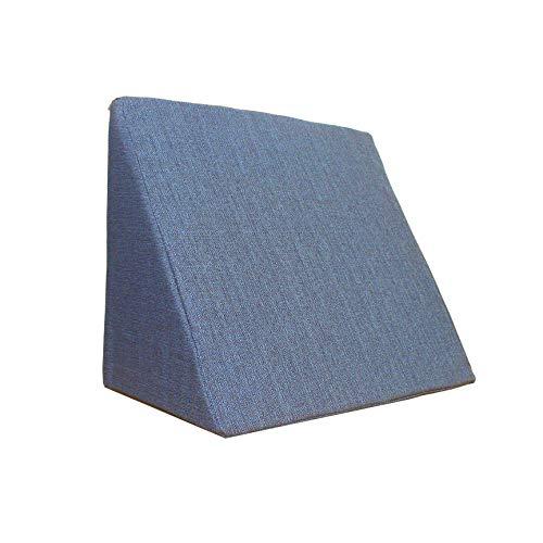 Salosan Keilkissen, Rückenstütze für Bett, Couch, Fernsehen und Tablet Relaxkissen, Lesekissen, Größe 60cm x 50cm Höhe 30cm blau