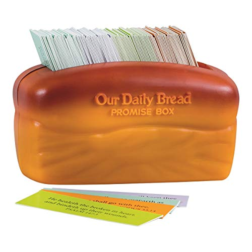 DaySpring Our Our Daily Bread Promise Box with Scripture Cards, 4 1/4' x 2 1/4' x 2', Brown - T9651