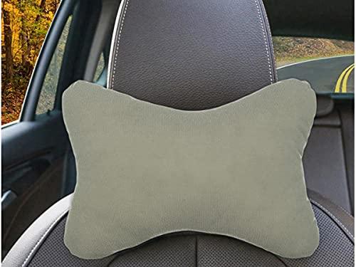 CARALL 2 Stück Kissen für Gaming-Stuhl, Kopfstütze für Autos, Reisekissen, für Kopfstütze und Nacken (grau)