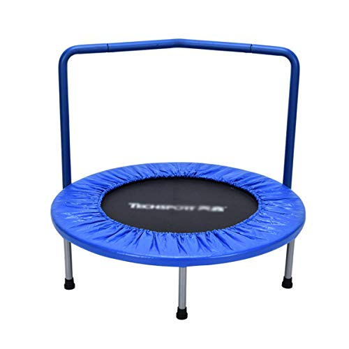 TBTBGXQ Small Trampoline, 8 Ft Fitness Trampoline Foldable Large Load-Bearing Indoor Trampolines with Armrests, Four-Fold Contraction Jump Bed for Kids