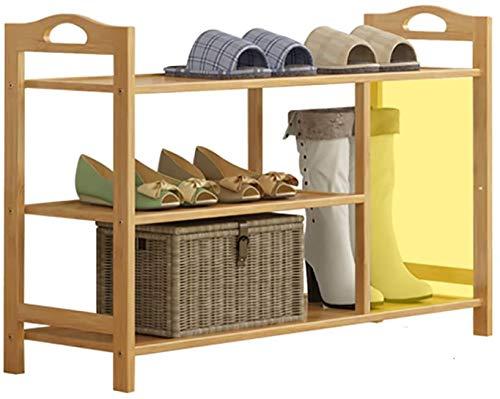 3, perchero de zapatos de bambú de 4 capas, a prueba de polvo multifunción, soporte de zapatos para el hogar multifunción, gabinete de zapatos para ahorro de espacio de almacenamiento,90CM-4 layers