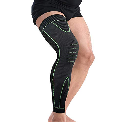 Bufccy Full Leg Compression Sleeve for Women Men Stretch Long Leg Sleeve for Running Basketball Football Cycling 1 Pcs Large