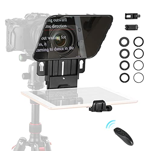 """SmallRig Teleprompter for iPad / 11"""" Tablet/Smartphone/DSLR Cameras with Remote Control, APP Compatible with iOS/Android for Online Teaching/Vlogger/Live Streaming"""