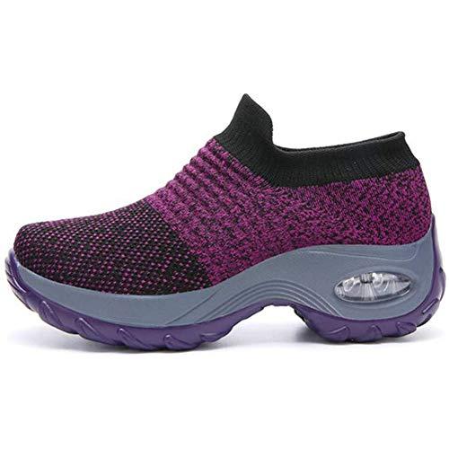 Mizero Le Dames Scivliegen op schoenen van mesh ademend tennisschoenen loopschoenen op Strada Mesh sneakers Air sportschoenen