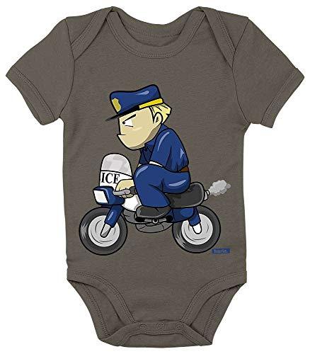 Hariz - Body de manga corta para bebé, policía, divertido, tarjeta de regalo, verde oliva, musgo,...