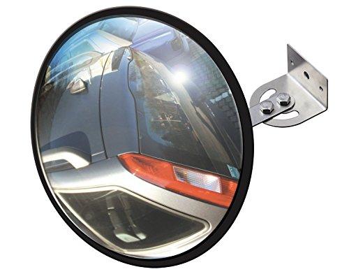 Schellenberg 73180 Sicherheitsspiegel aus Acrylglas, Durchmesser 30 mm, Spiegel für Garage, Carport oder Einfahrt, Einparkhilfe