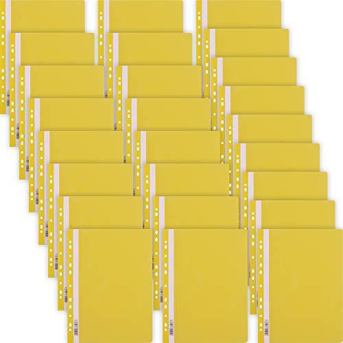 D.RECT snelhechter Lux PP A4 met perforatie van sterke polypropyleen folie geel 25 stuks