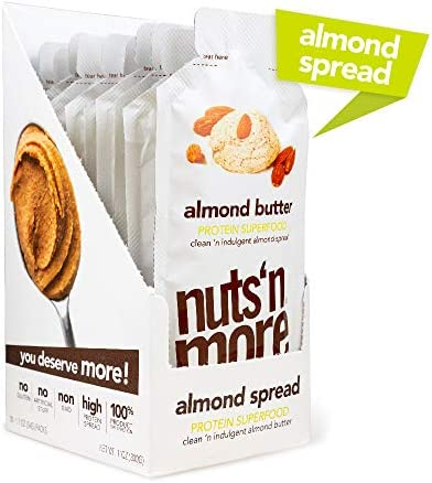 Nuts N More Almond Butter Spread All Natural High Protein Nut Butter Healthy Snack Omega 3 s product image