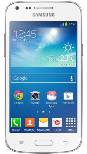 Samsung Galaxy Core Plus Smartphone (10,9 cm (4,3 Zoll) TFT-Touchscreen, 5 Megapixel Kamera, WiFi, NFC, S Beam, Android 4.2.2) weiß
