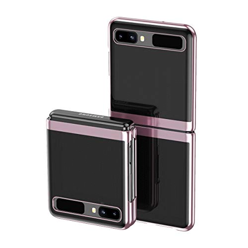 Custodia® Transparent Plating Hülle Ultra Thin Foldable,Anti Collision,Comfortable Grip Full Protection Shell Compatible for Samsung Galaxy Z Flip 5G/Samsung Galaxy Z Flip (2)