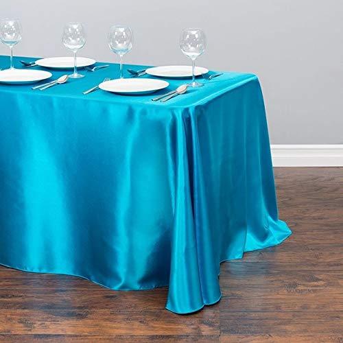 RCLYH 1 Stück Hochzeit Weiß Satin Tischdecke Rechteck Tischdecke Tisch Overlay Für Hochzeit Geburtstagsfeier Dekore Weihnachten Tischdecke | Tischdecken |