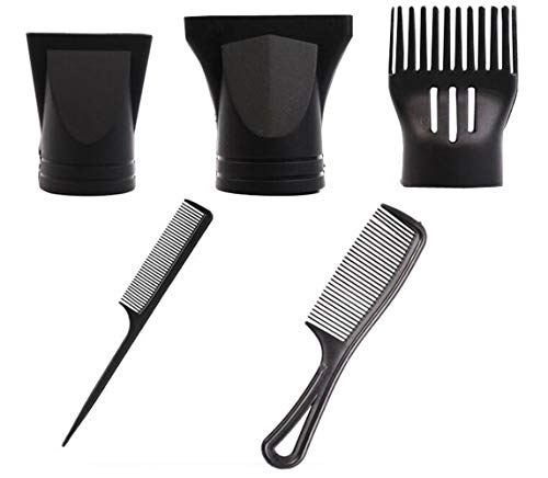 1 juego/5 boquillas multifunción de repuesto para secador de pelo peine de peluquería concentrador estrecho de repuesto boquilla plana de secado de pelo para diámetro exterior de 4 a 4,8 cm