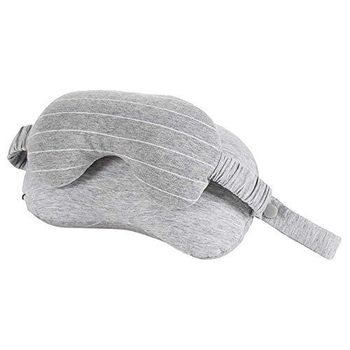 Beada Almohada de cuello multifuncional portátil con máscara de ojos cojín viaje dormir Eyepatch para oficina viaje coche avión