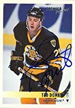 Autograph Warehouse 55371 Ted Donato Autographed Hockey Card Boston Bruins 1994 Topps Premier No .88