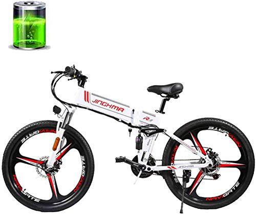 min min Bike,26''Electric Mountain Bike, 48V350W High-Speed Motor/12.8AH Lithium Battery, Dual-Disc Full Suspension Soft Tail Bike, Adult Male and Female Off-Road