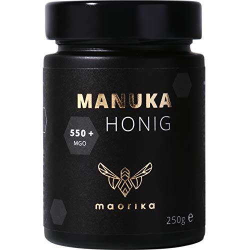 maorika - Manuka Honig 550 MGO + 250g im Glas (lichtundurchlässig, kein Plastik) - laborgeprüft, zertifiziert aus Neuseeland