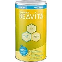 BEAVITA Vitalkost sabor vainilla sin lactosa - 500 g 9 porciones - 214 kcal por porción - Sin lácteos o gluten - Suplemento con proteína, vitaminas y minerales - Fórmula para adelgazar y perder peso