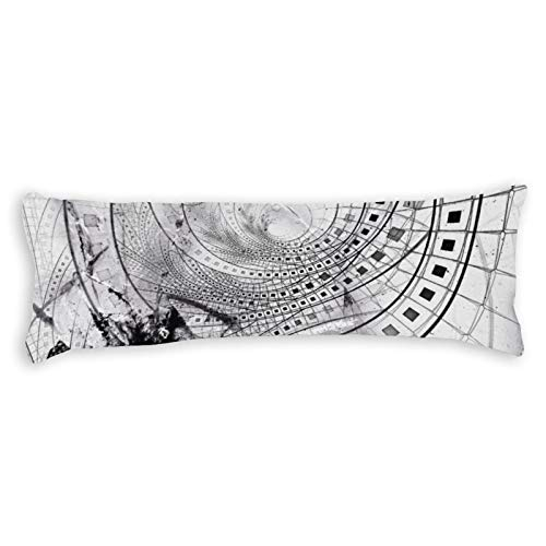 Promini Split Blasted and Shattered Glass Film Strips Body Pillow Cover Pillowcases Cushion with Hidden Zipper Closure for Sofa Bench Bed Home Decor 20'x54'