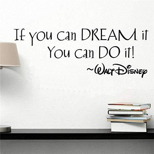 XCWQ muursticker, als je slaapt, kun je inspirerende citaten maken voor Home Art Decor wanddecoratie voor kinderkamers.