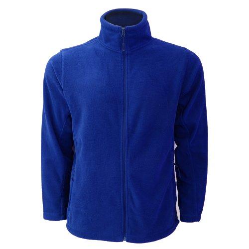 Jerzees Colours Herren Outdoor-Fleecejacke mit Reißverschluss (L) (Helles Royalblau)