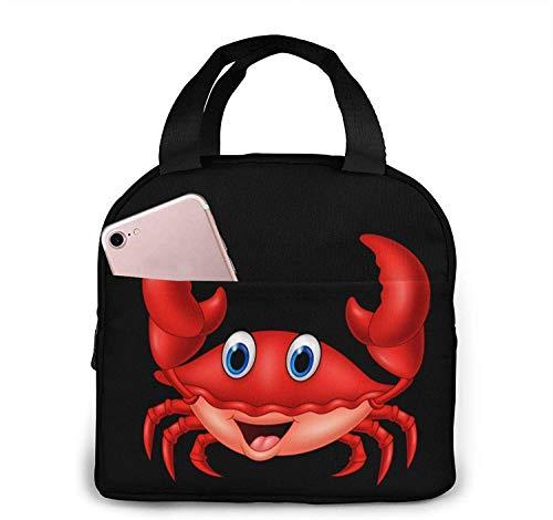Bolsas de almuerzo de cangrejo para mujeres, bolsa de refrigerador portátil con aislamiento de lonchera, bolsa de Bento para viajes/picnic/trabajo