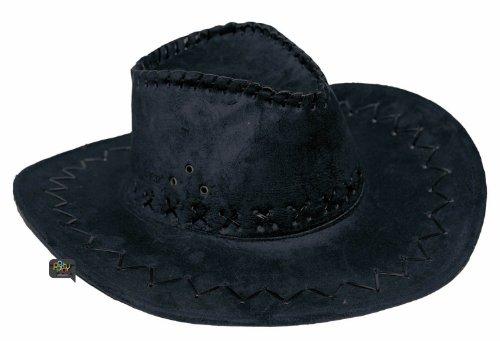 Party Pro 86010002 Chapeau Marron Buffalo Luxe Cap, Noir