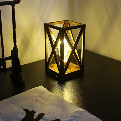 Lámpara de Mesa Bateria Cargada Led Lámpara de Noche Retro Diseño Industrial Lámpara de Escritorio Niños Lampara de Lectura Sala Cuarto Decorativo Luces Comedor Mesa de Centro Hotel,Negro