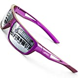 ATTCL Sports Polarized Sunglasses For Men Cycling Driving Fishing 100% UV Protection (Purple/Silver 2021)